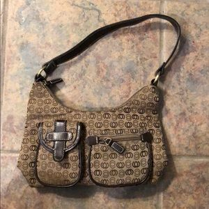 brown and tan small purse never used
